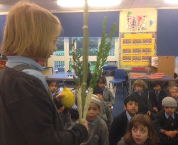 Y1 shaking lulav and etrog