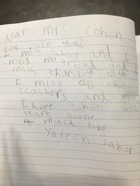 A Heartwarming Letter from Yaseen