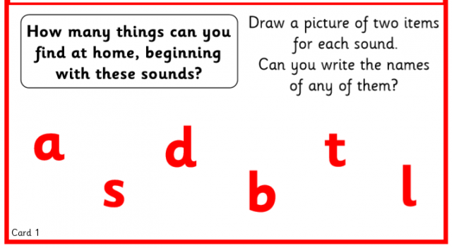 Some fun Phonics and Mathematics activities for you to try.